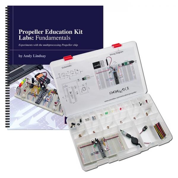 Kit de educación con el Microcontrolador Propeller