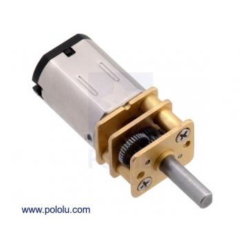 Micro motorreductor con engrane de metal y motor de alto torque, relación 100:1