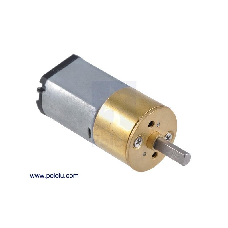 Micro motorreductor con engrane de metal 15.5D x 30L mm, relación 115:1