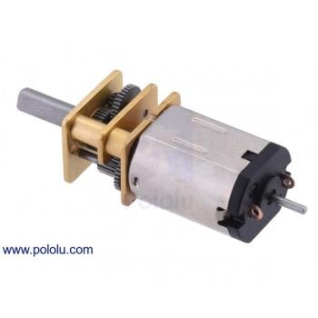 Micro motorreductor con engrane de metal, alto torque, relación 10:1 y eje extendido