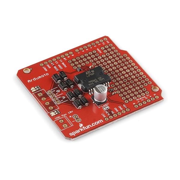 Shield de control de motores para Arduino (Ardumoto)