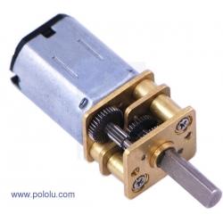 Micro motorreductor con engrane de metal alto torque, relación 75:1