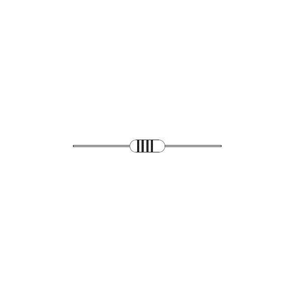 Inductor en empaque axial de 680uH
