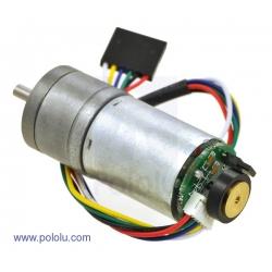 Motor con engranaje de metal reducción 9.7:1 con encoder 48 CPR