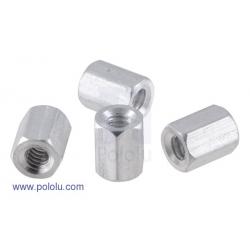 Separadores de aluminio (standoff) de 0.635cm (paquete con 4) hex