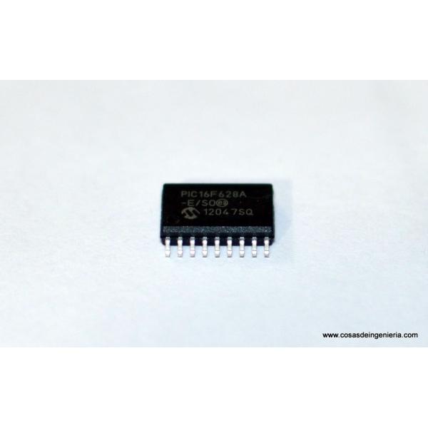 Microcontrolador PIC16F628A-E/SO de montaje superficial