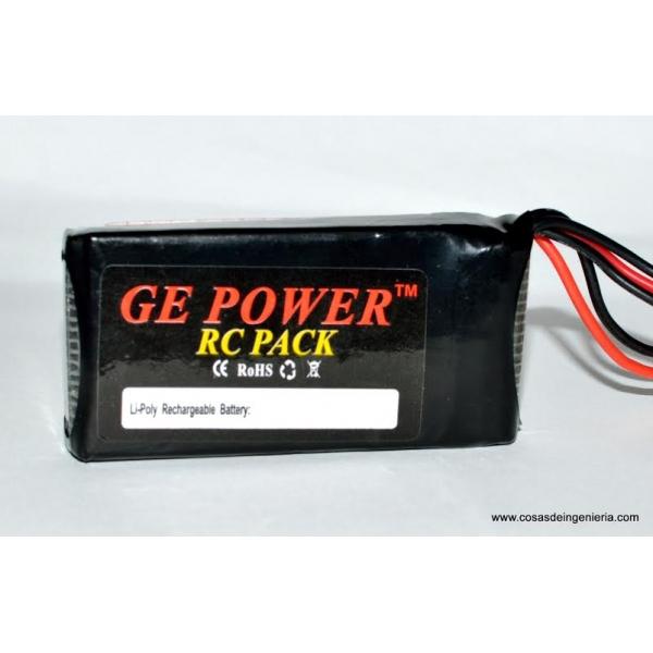Batería de polimero de litio (Li-Po) 1000mAh - 7.4V 20C