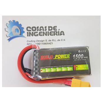 Batería de polímero de litio (Li-Po) 1500mAh - 7.4V  25C