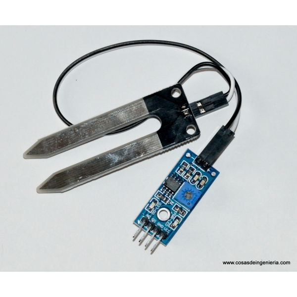 Sensor de humedad en tierra