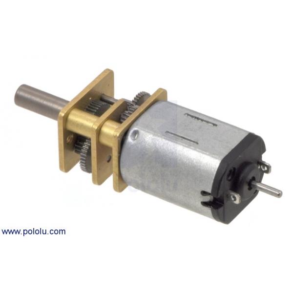 Micro motorreductor con engrane de metal alto torque, eje extendido, relación 50:1