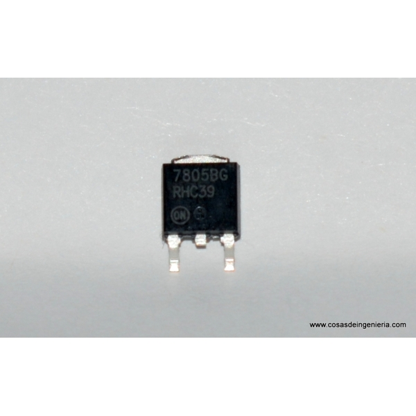 Regulador de voltaje positivo con salida de 5V en montaje superficial (7805)
