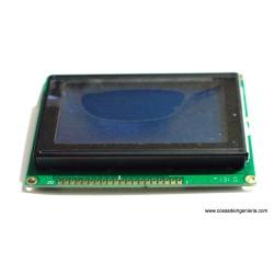 Pantalla LCD gráfica con 128x64 monocromática con backlight