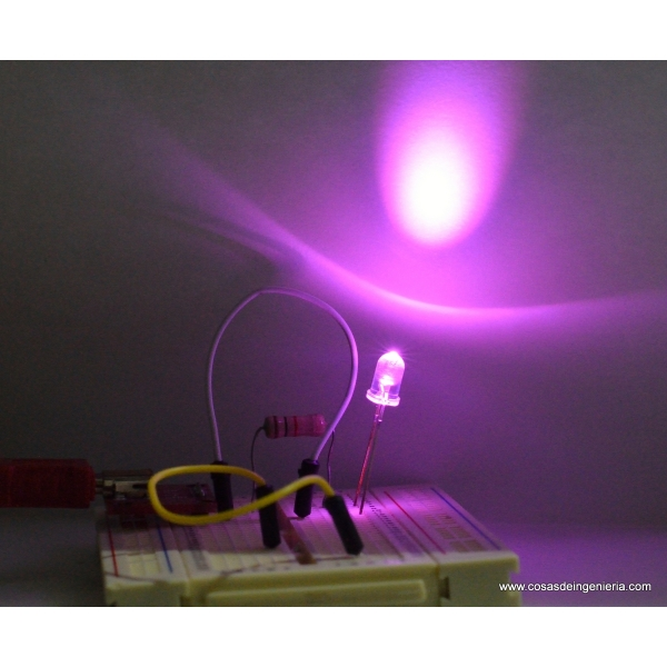 LED de 5 mm, color rosa