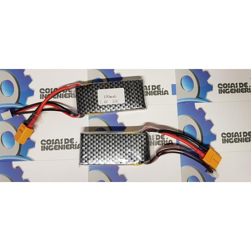 Batería de polimero de litio (Li-Po) 1000mAh - 7.4V 25C XT60
