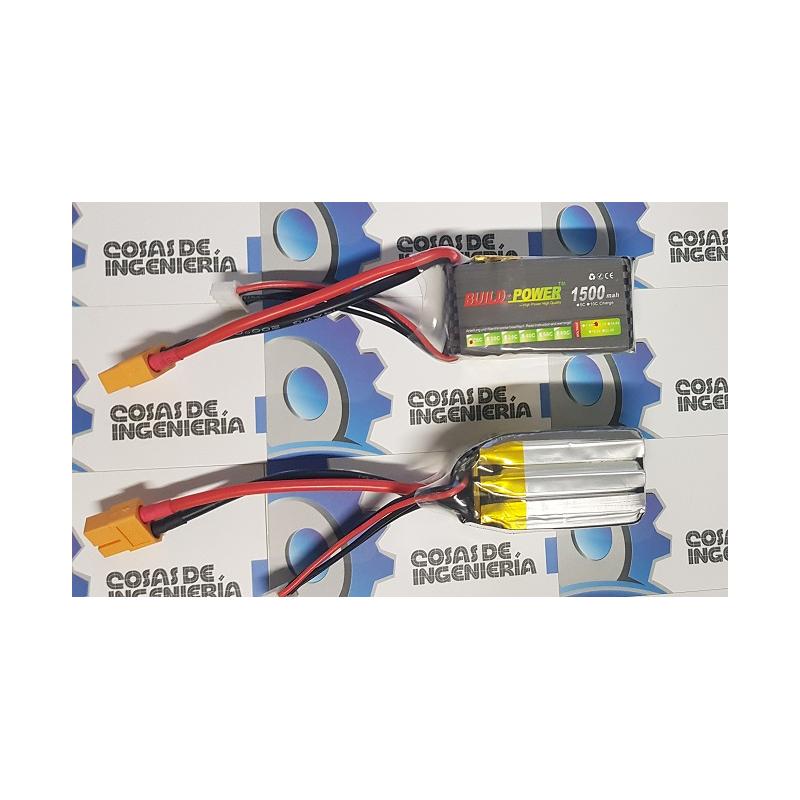 Bateria Lipo Buildpower 1500mah 3s 11.1v 25c, Robotica, Arduin