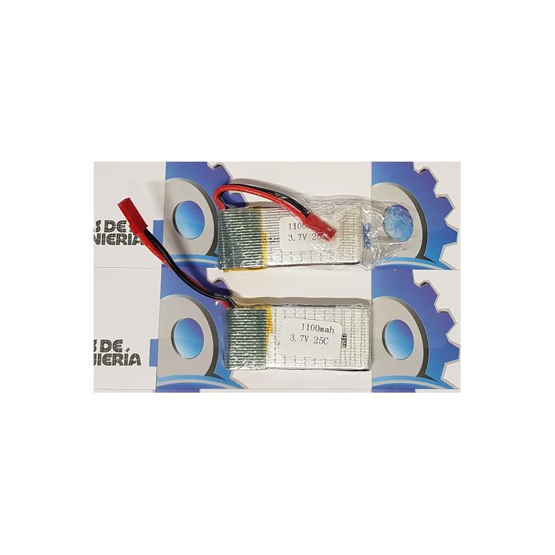Batería de Polímero de Litio (Li-Po) 1100mAh - 3.7V