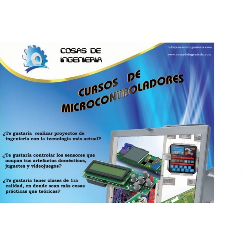 Curso Básico de PIC´s de Microchip en Lenguaje ensamblador (presencial)