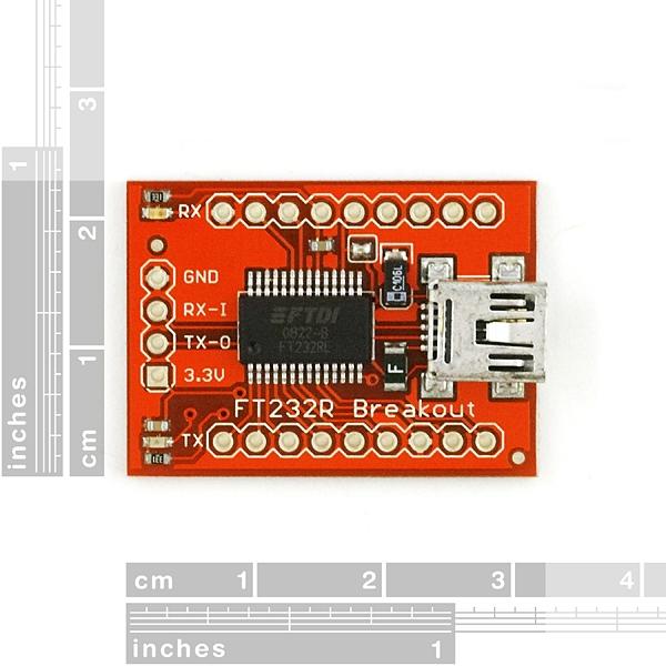 Convertidor de USB a TTL (USB a serial para microcontroladores FT232)