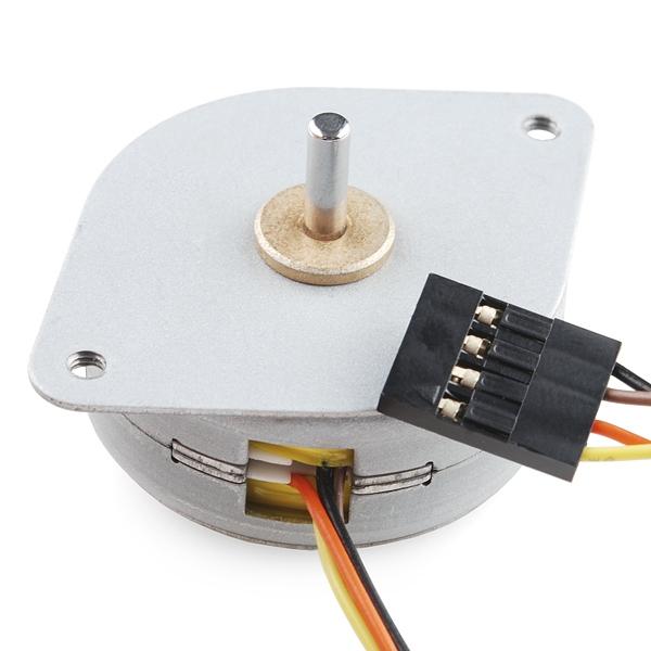 Motor a pasos pequeño con cable 12 volts