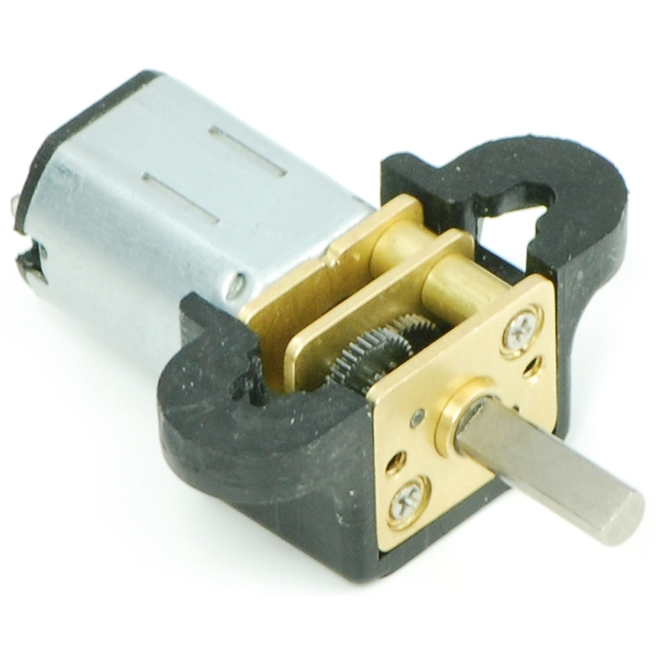Par de bases de fijación para micro motoreductores, color negro