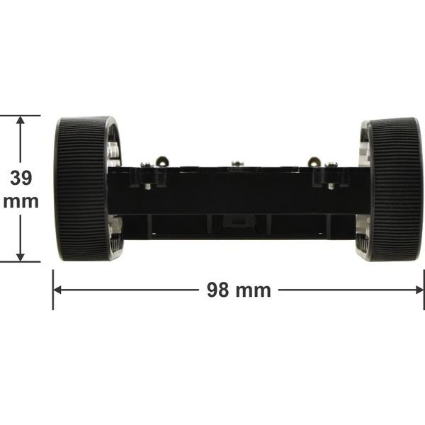 Chasis para robot de sumo (sin motores)