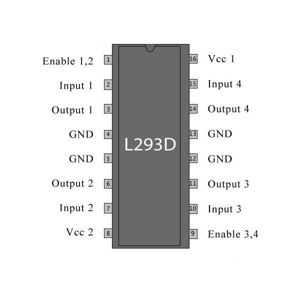 L293D Puente H 500mA