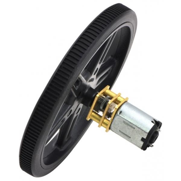 Micro motorreductor con engranes de metal, relación 298:1
