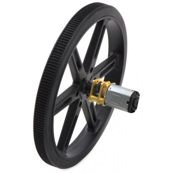 Micro motorreductor con engrane de metal alto torque, relación 50:1