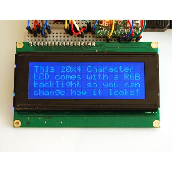 Pantalla LCD 20 x 4 RGB con backligth negativo
