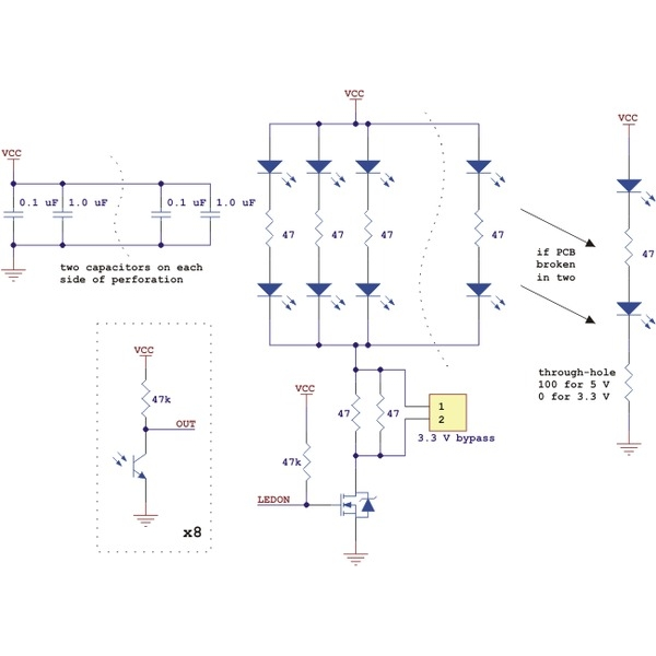 Sensor reflectivo QTR-8RC