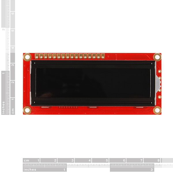 Pantalla LCD 16 x 2 letras blancas fondo negro 3.3V