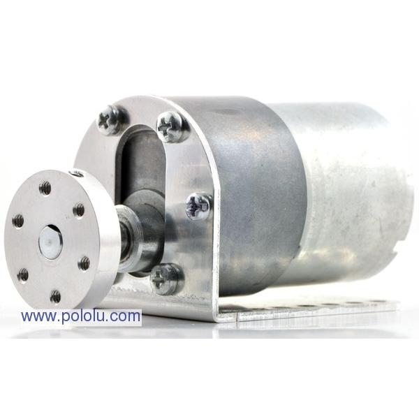 Par de soporte para motor con engranaje de metal con reducción 37Dmm