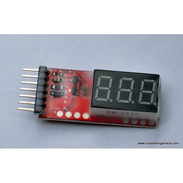 Medidor de baterías de polímero de litio multicelda