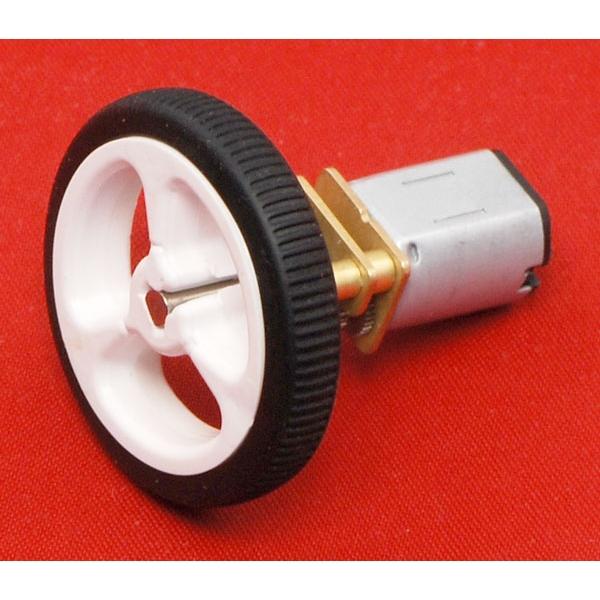 Micro motorreductor con engrane de metal, alto torque y eje extendido, relación 30:1
