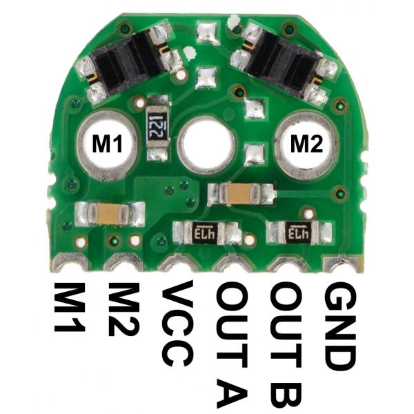 Par de encoder óptico para micromotorreductor