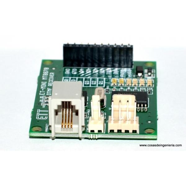 Receptor de tonos telefónicos DTMF (MT8870)
