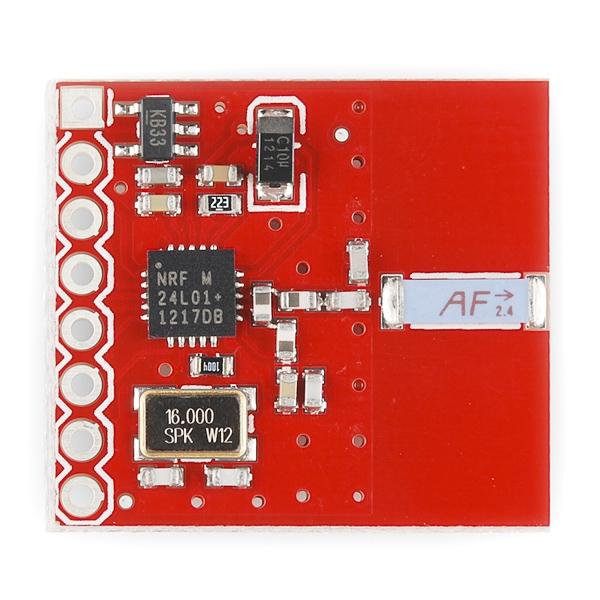 Transceiver nRF2401A con antena