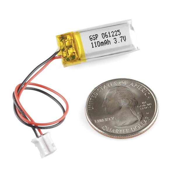 Batería de Polímero de Litio (Li-Po) 110mAh - 3.7V