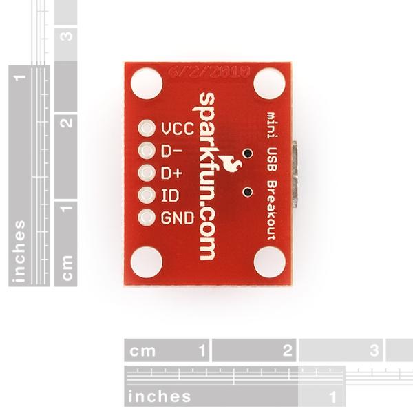 Conector miniUSB con tarjeta para protoboard