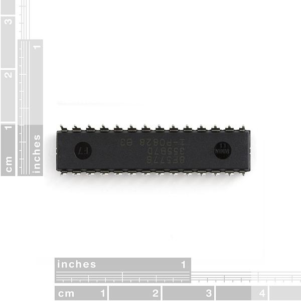 Microcontrolador AVR ATmega168, 20MHz 32K 6A/D