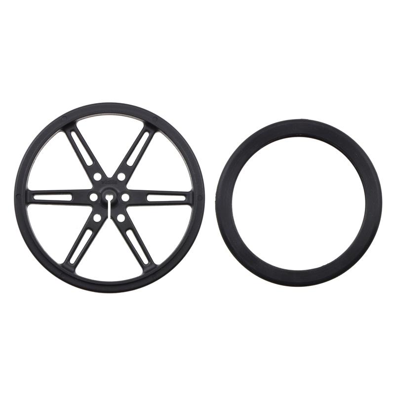 Par de llantas Pololu de 80 x 10 mm – negro