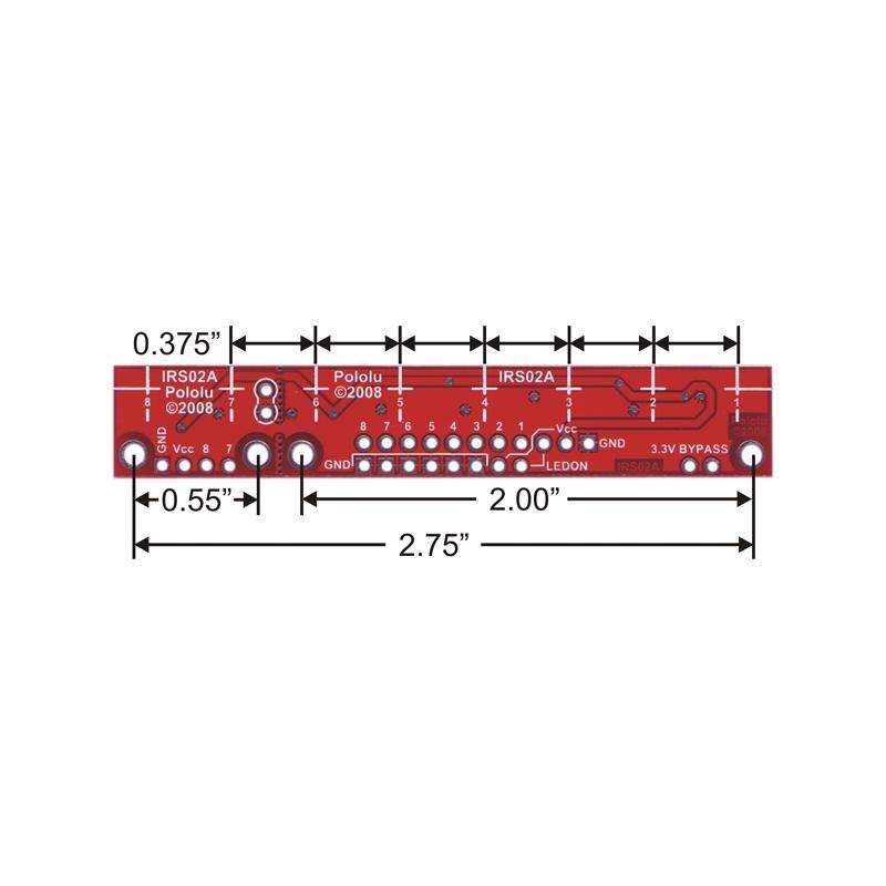 Sensor reflectivo QTR-8A